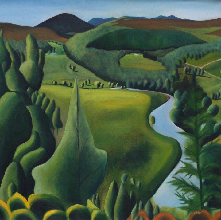 Glen Avon Acrylic on canvas Approx !8 x 18