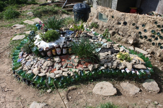 Recycled Bottle Herb Bed