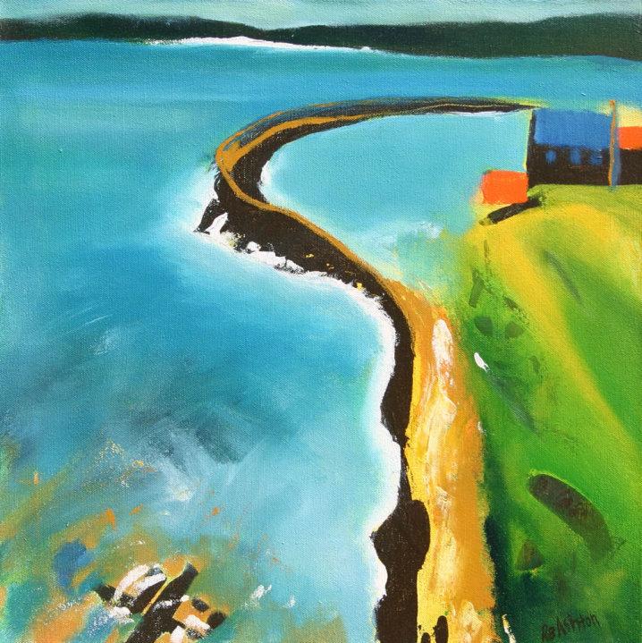 Wiggle wall Acrylic on Canvas 18 x 18