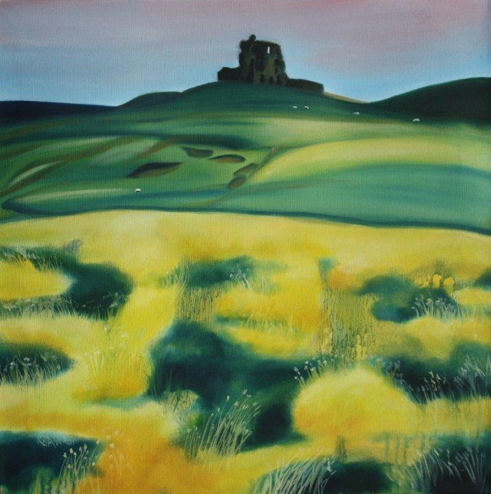 Auchindoun Oil on Canvas Approx 18 x 18