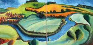 Deveron I & II Oil on Canvas Approx 16 x 16